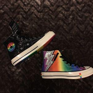 Converse Chuck Taylor High Tops Rainbow Glitter 8